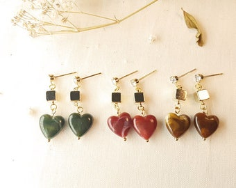 Bold heart earring