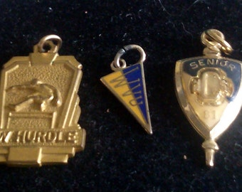3 School Charms and Pendants Sold Separately or Together at a Discouny