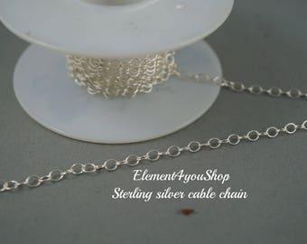 Sterling silver chain upgrade for bracelet