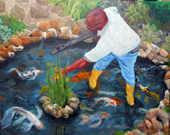 Custom Oil Painting from Favorite Photo, People, Pet, Place by Artist Robin Zebley