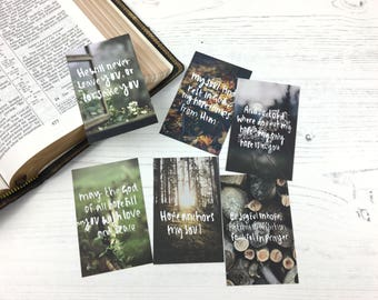 Hope Mini Scripture Cards (Pack of Six) - Christian Gifts - Memorisation Cards - Florist Cards - Christian Bible Verse Cards - Eco Friendly