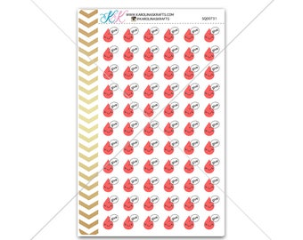 Give Blood Stickers for planner, calendar! Functional planner stickers reminder sticker functional sticker medical sticker #SQ00731