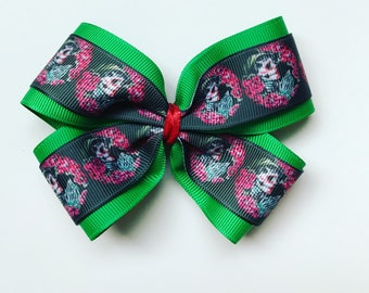 Day of the dead hair bow