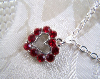 Heart Necklace Swarovski Crystal Heart Pendant