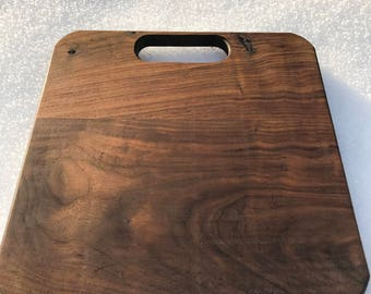 Square Walnut Cutting Board With Handle