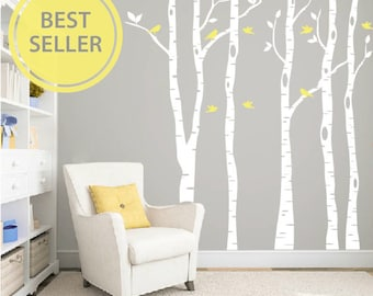 Birch Wall Decal Etsy - Vinyl decals for the wall