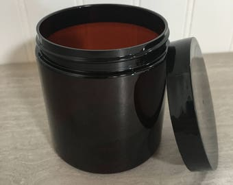 8oz. Plastic Jar & Lid - Set of 25