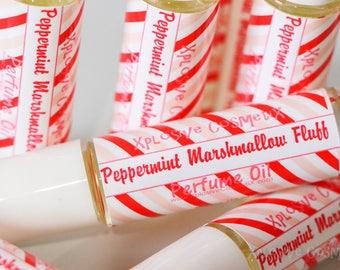 Peppermint Marshmallow Fluff Perfume Oil - Roll On Perfume, Peppermint Fragrance Oil, Womens Fragrance, Christmas Gift, Marshmallow Perfume