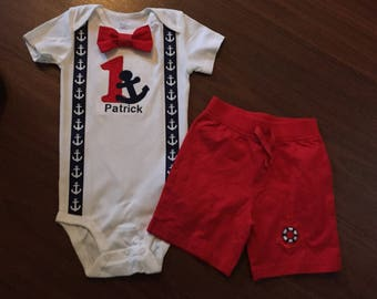 Nautical first birthday, sailor birthday, anchor birthday, baby boy first, first birthday sailing, Navy baby boy 1st