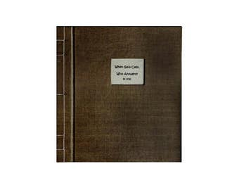 Handmade Artists Book, Book Handmade and Bound, Poetry and Art, Handcrafted Books, Richard Wolfson, Vicki Bolen, When Gaia Calls, Art