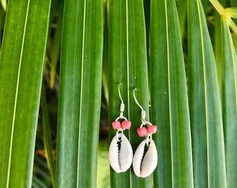 Cowrie Shell Dangle Earrings