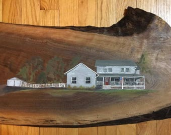 Custom House Portrait, Painting of House, Custom Painting of Home, Housewarming Gift, Portrait of House
