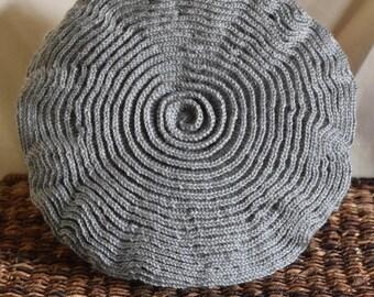 Rounds of Ruffles Pillow - Grey