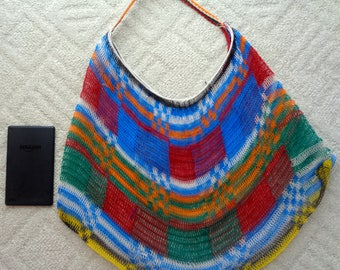 Baby Bilum -Extra large string bag, Colorful woven purse, Beach bag, Reusable grocery bag, Colorful handmade purse, Tote bag, Gift for moms