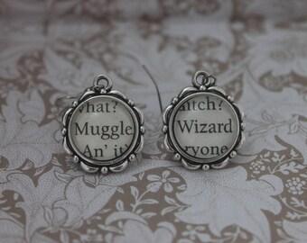 Muggle ~ Wizard Earrings ~ Harry Potter ~