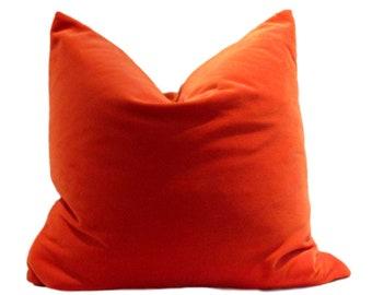Orange Velvet Pillow Cover