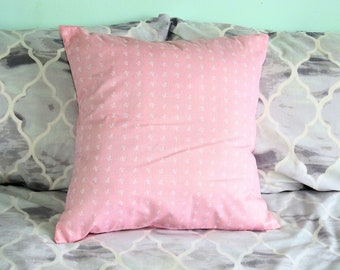 Baby pink Anchor pattern envelope cushion 16 x 16 inches