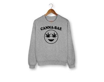 Cannabae Sweatshirt, Weed Sweater, Stoner, 420, Cannabis, Funny Sweater, Graphic Tee, Funny Shirt, Weed, Funny Saying, Sweatshirt, Funny