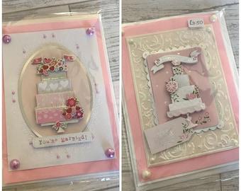 Wedding cake cards
