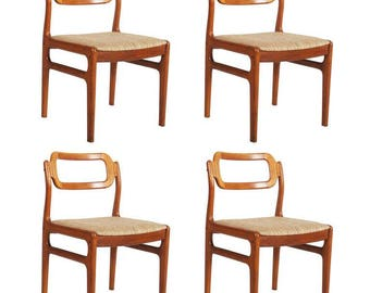 Set of Four Danish Teak Chairs by Uldum Møbelfabrik