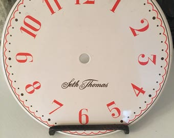Vintage Seth Thomas Enamel Clock Face