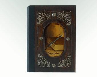 Hand painted book, handmade journal, handmade notebook, blank notebook, handmade sketchbook, vintage sketchbook, vintage notebook