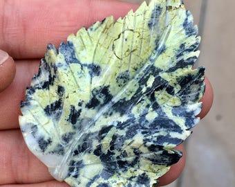 Top Quality 20g Hand Carved Serpentine Leaf Crystal Carving - Peru - Item:SPT17011