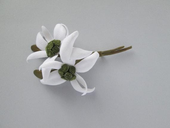Velvet edelweiss flower brooch pin corsage boutonniere small mightylinksfo