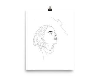 Funky Portrait Poster