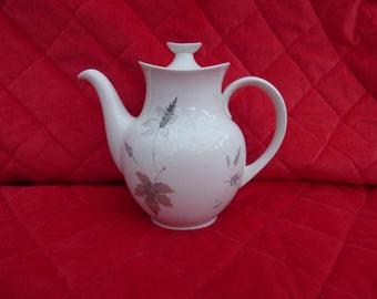 Vintage Royal Doulton Porcelain Tea / Coffee Pot, Tumbling Leaves Design.