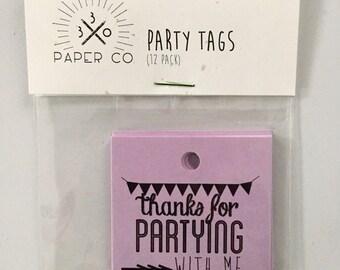 SALE! Party Favor Tags (12)