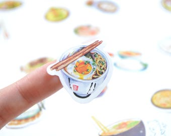 24pc Noodles Food Stickers, Scrapbook Supplies