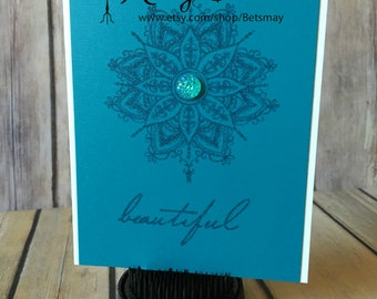 Beautiful Medallion - Handmade Card