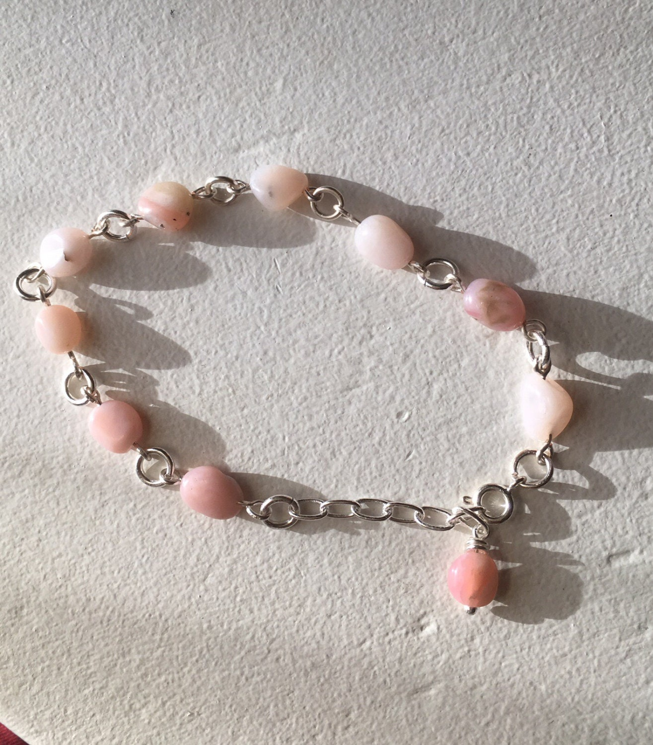 bracelet products pink sterling and opal serpentine silver