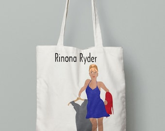 Real Housewives RHONY Rinona Ryder - Tote Bag - Cotton - Perfect Tote - Reality TV - Reunion - Shopping - Pop Culture