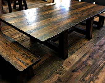Barnwood Dining Table Reclaimed Wood Table, Barnwood Tables, Barnwood Table,  Barn Wood
