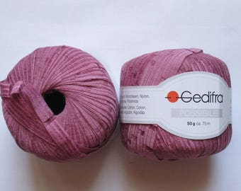 11 skeins Ribbon pink antique 4434 Gedifra 48 cotton you can