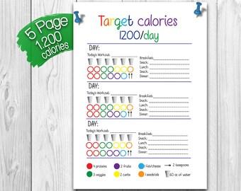 21 Day  Fix BUNDLE - 1,200 Calorie Bracket, Shopping List, Measurement Tracker and More!