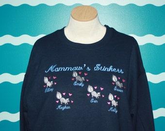 Grandparent Sweatshirt - Grandma Sweatshirt - Mammaw's Gift - Grandma Gift - Custom Embroidered Sweatshirt - Plus Size shirt - Grandpa Gift