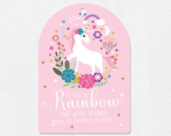 INSTANT DOWNLOAD - Unicorn Party Favor Tag