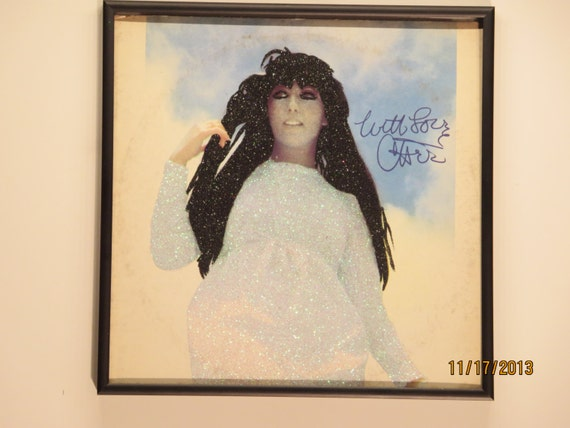 Glittered Record Album - Cher - With Love, Cher