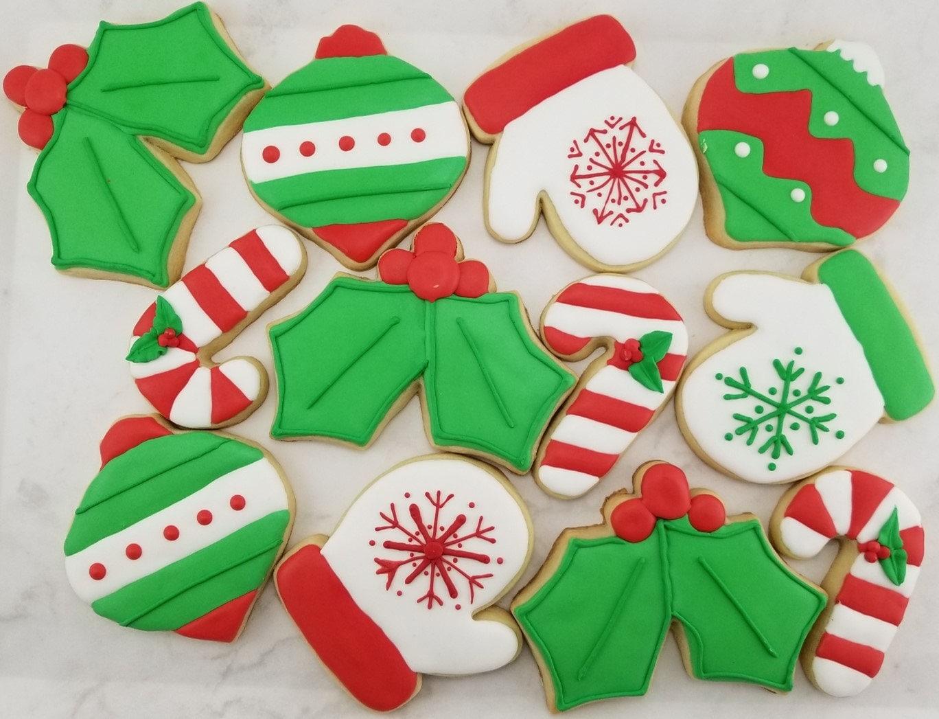 Seasons greetings christmas sugar cookies christmas cookies seasons greetings christmas sugar cookies christmas cookies christmas ornaments mitten cookies ornament cookies candy cane cookie m4hsunfo