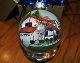 Custom Home Hand Painted Ornament - sold