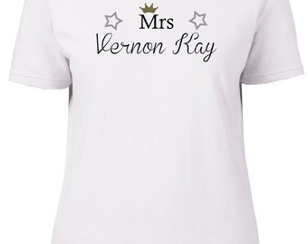 Mrs Vernon Kay. Ladies semi-fitted t-shirt.