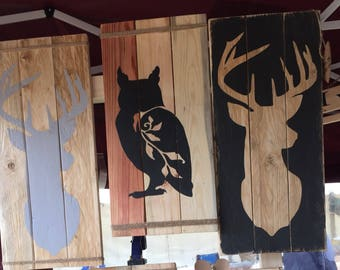 Handcrafted Rustic  Upcycled and Reclaimed Wooden Animal Silhouette Picture Frame