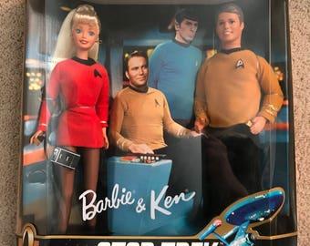 1996 Barbie and Ken Star Trek Gift Set