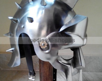 Gladiator Maximus Helmet Larp reproduction Armour greek Roman Helmets