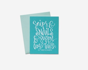Baby Card - Snips & Snails