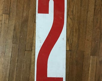 Double sided large metal number