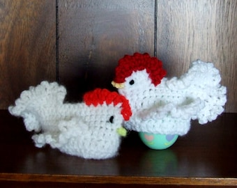 Chicken Egg Cozy - PDF PATTERN DOWNLOAD - Chick Egg Cover For Easter Decoration